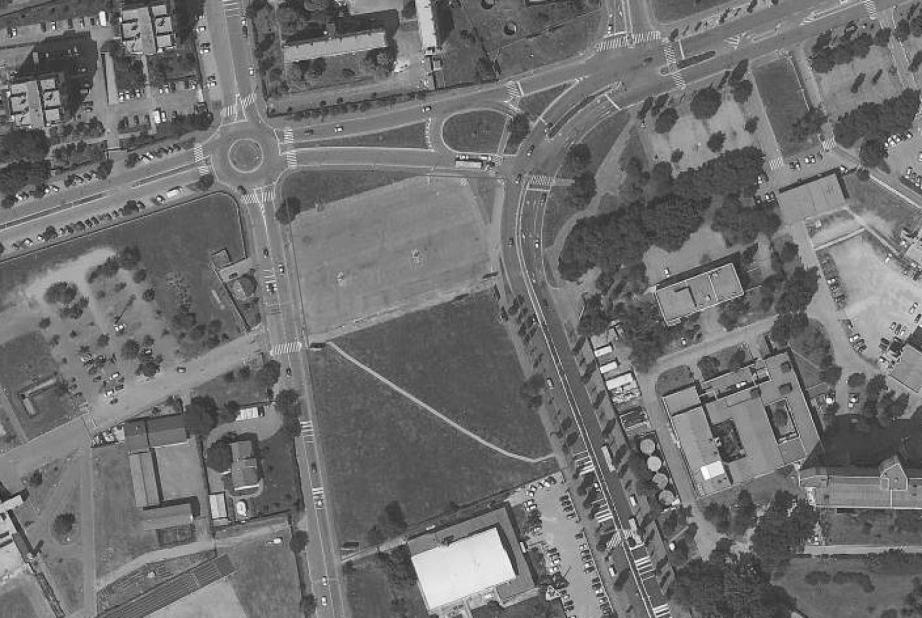 Via Zoia: veduta aerea dell'area messa a bando